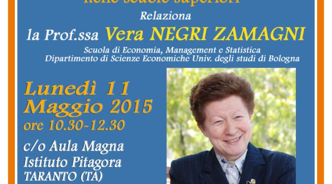 Vera Negri Zamagni all'ITES Pitagora