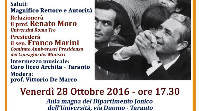 """Convegno su """"La giovinezza di Aldo Moro: i suoi anni a Taranto"""""""