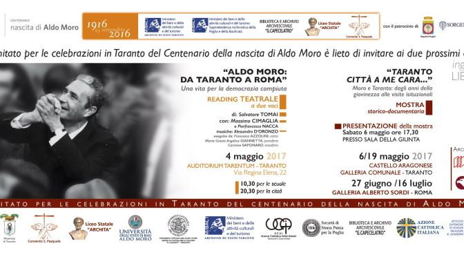 Opera teatrale e mostra storico documentaria su Aldo Moro