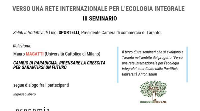 Il prof. Mauro MAGATTI a Taranto il 30 maggio