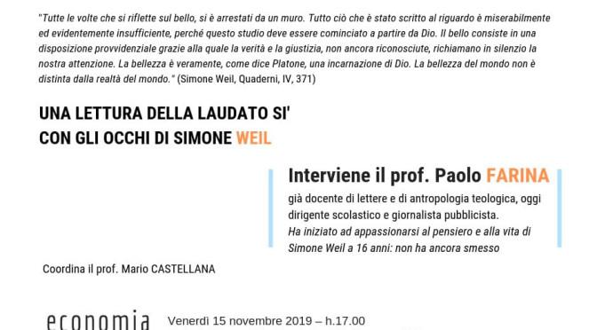 L'enciclica Laudato Si', con gli occhi di Simone Weil