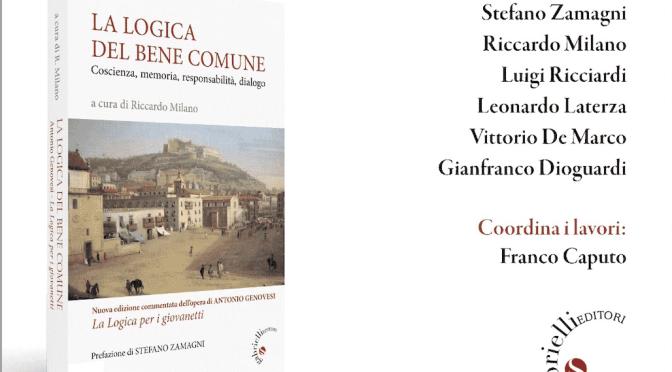 """""""La logica del bene comune"""" presentata martedì 9 febbraio 2021 a Taranto"""
