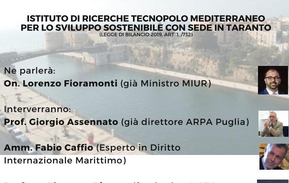 """On. Lorenzo Fioramonti a Taranto : """"Un nuovo modello di sviluppo sostenibile"""""""