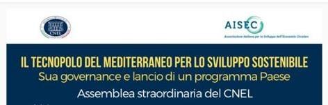 Assemblea del CNEL sull'istituzione a Taranto del TECNOPOLO DEL MEDITERRANEO