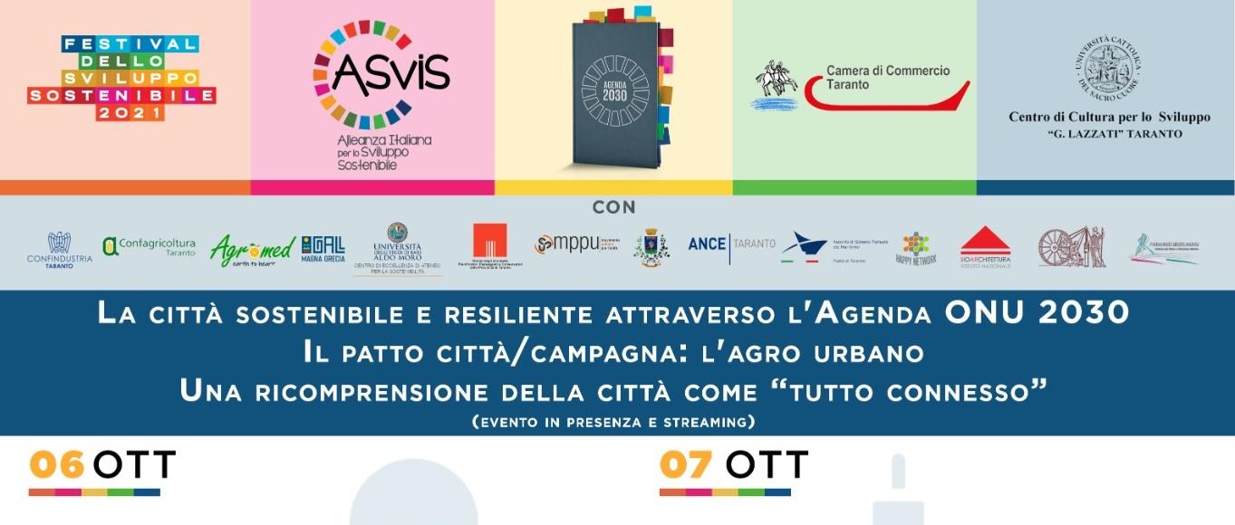 """""""La città sostenibile e resiliente attraverso l'Agenda Onu 2030… – Taranto"""""""